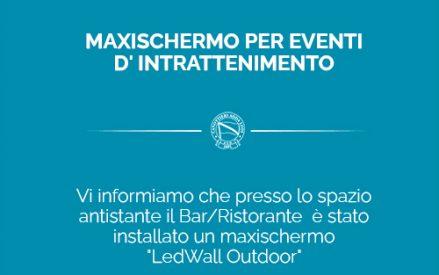 MAXISCHERMO PER EVENTI D'INTRATTENIMENTO